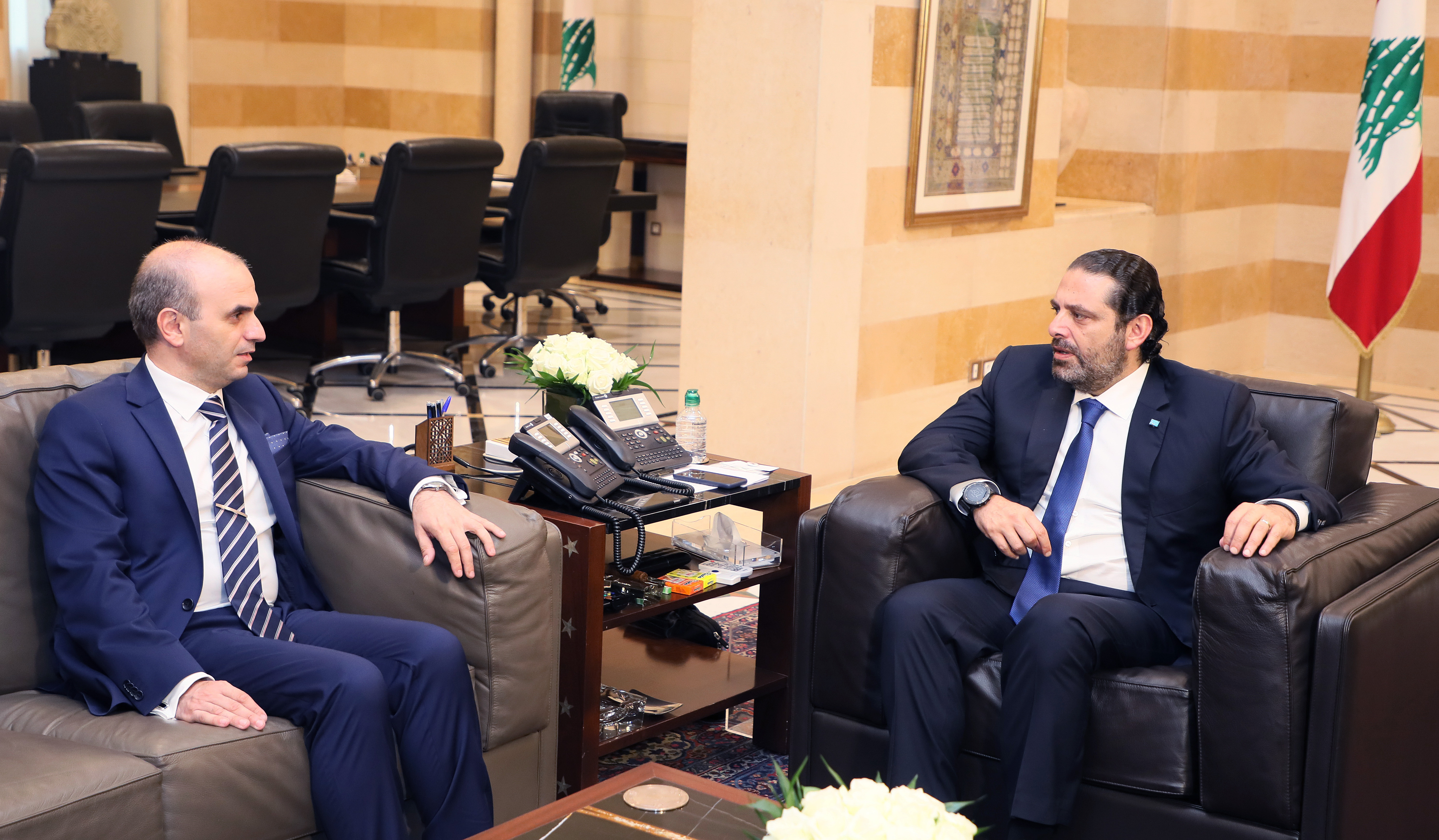 Pr Minister Saad Hariri meets Ambassador Salim Baddora
