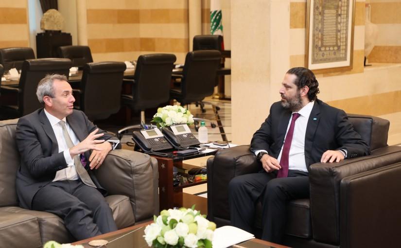 Pr Minister Saad Hariri meets British Ambassador
