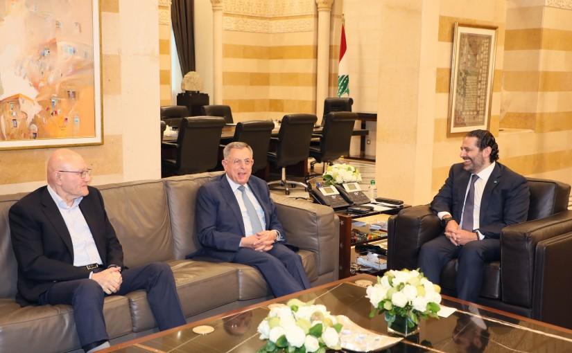 Pr Minister Saad Hariri meets Former Minister Fouad Siniora & Former Minister Tammam Salam