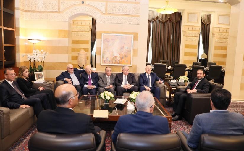 Pr Minister Saad Hariri meets Former Pr Minister Najib Mikati with a Delegation 1