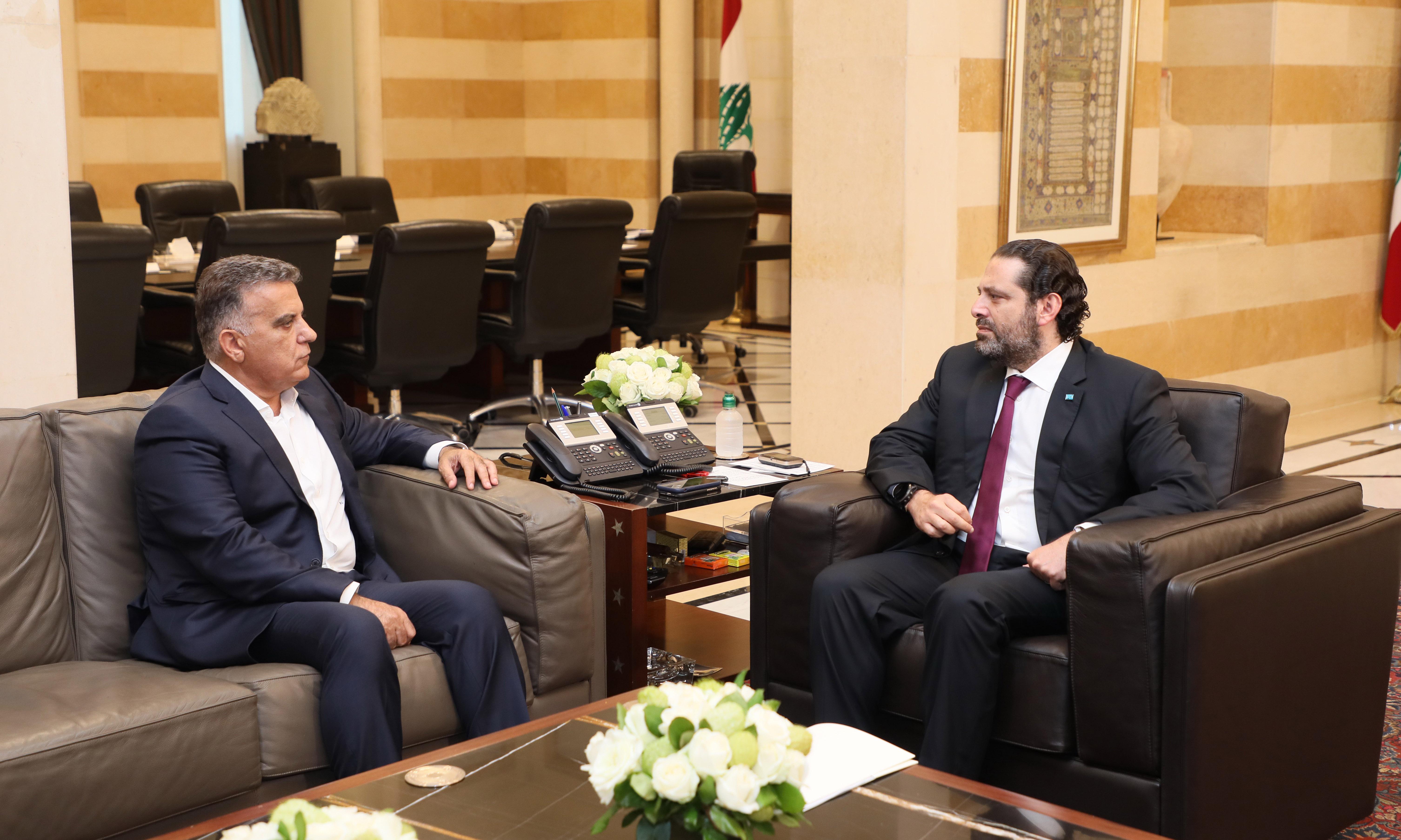 Pr Minister Saad Hariri meets General Abass Ibrahim