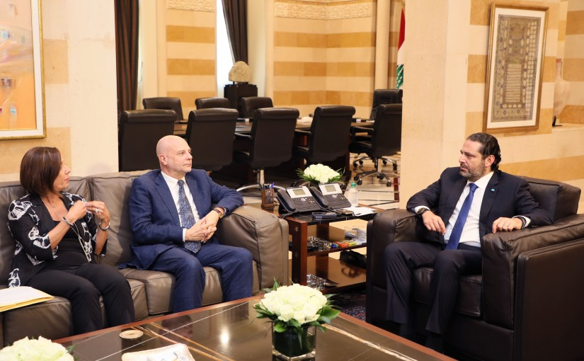 Pr Minister Saad Hariri meets Head of UNRWA Claudio Cordone