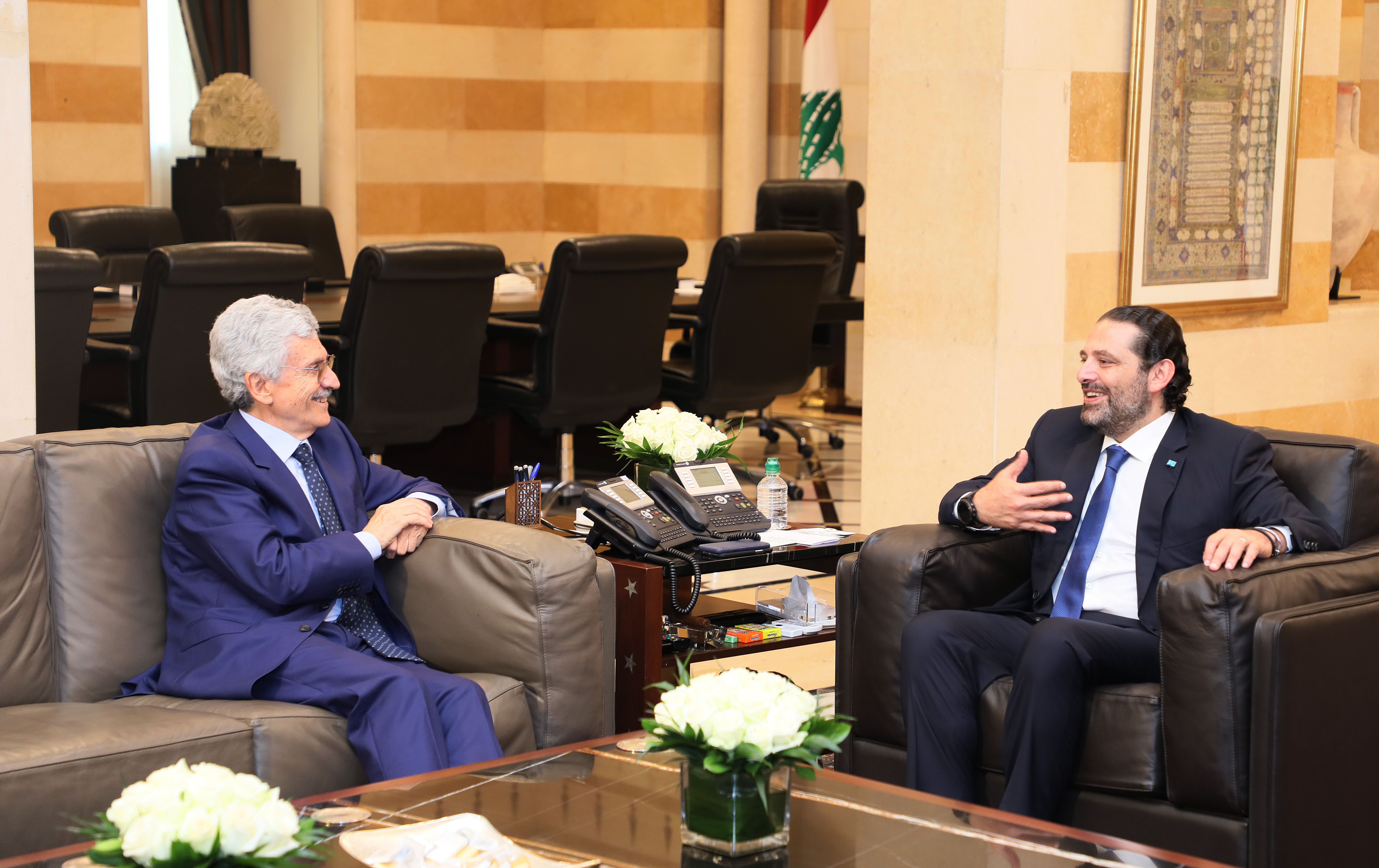 Pr Minister Saad Hariri meets Italian Former Pr Minister