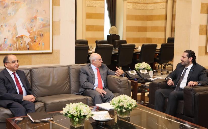 Pr Minister Saad Hariri meets Minister Kamil Abou Sleiman