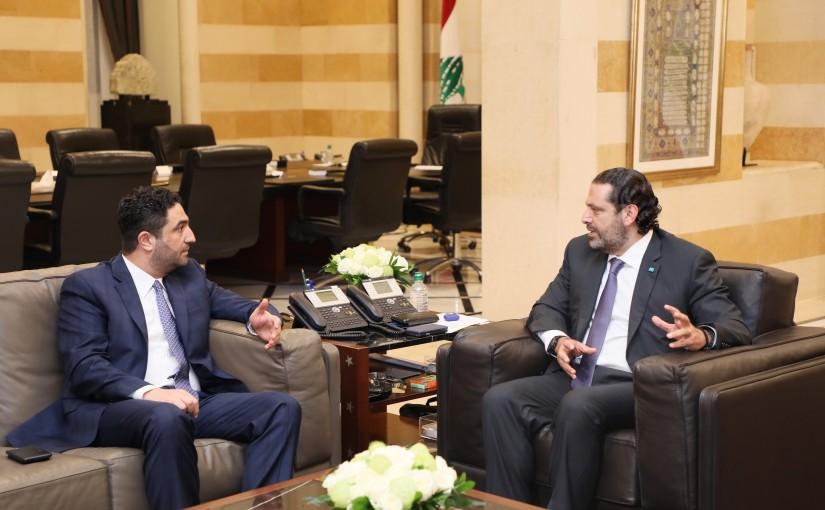 Pr Minister Saad Hariri meets Minister Saleh el Ghareyb