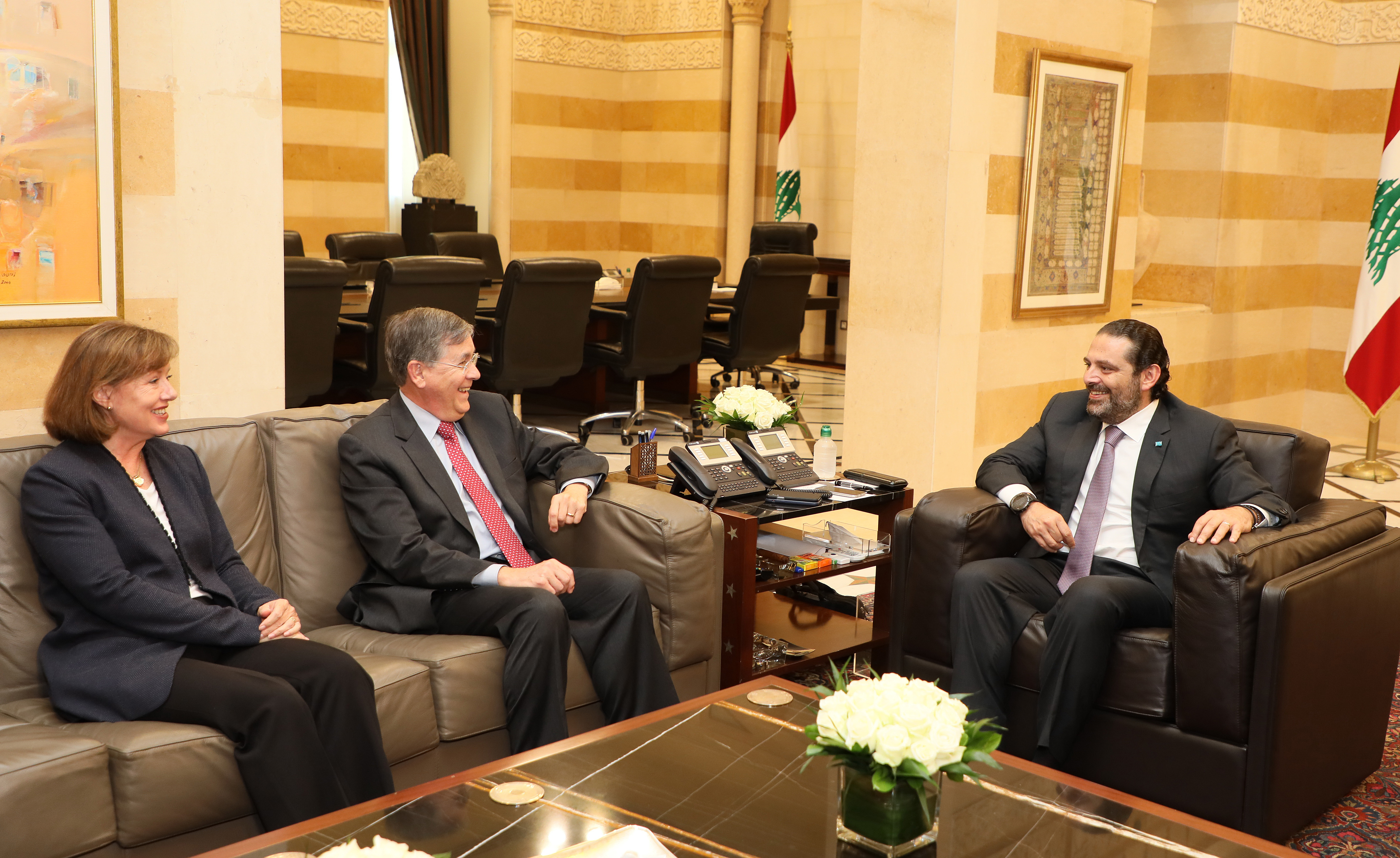 Pr Minister Saad Hariri meets Mr David Sterfield