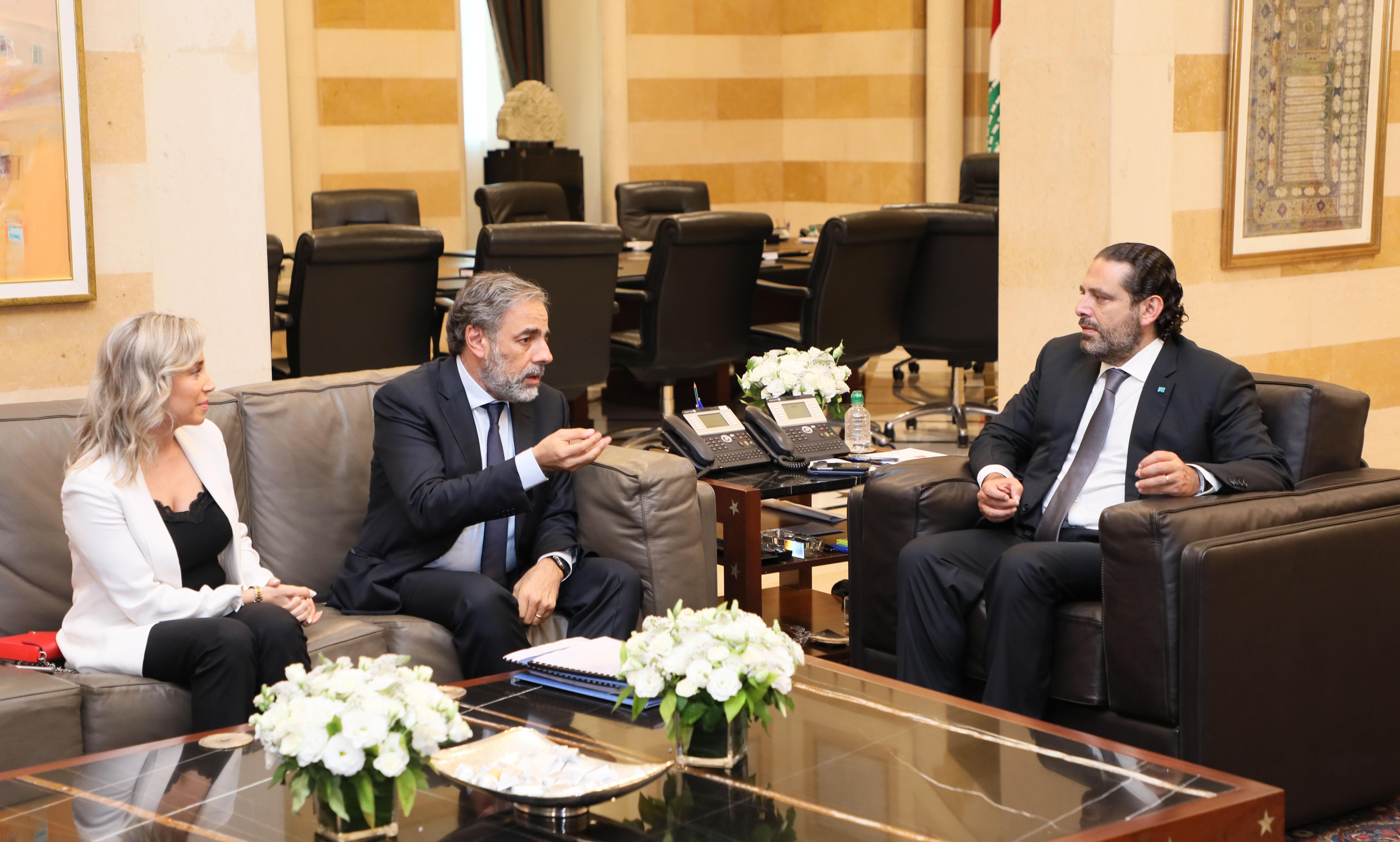Pr Minister Saad Hariri meets Mr Hani Bohssaly