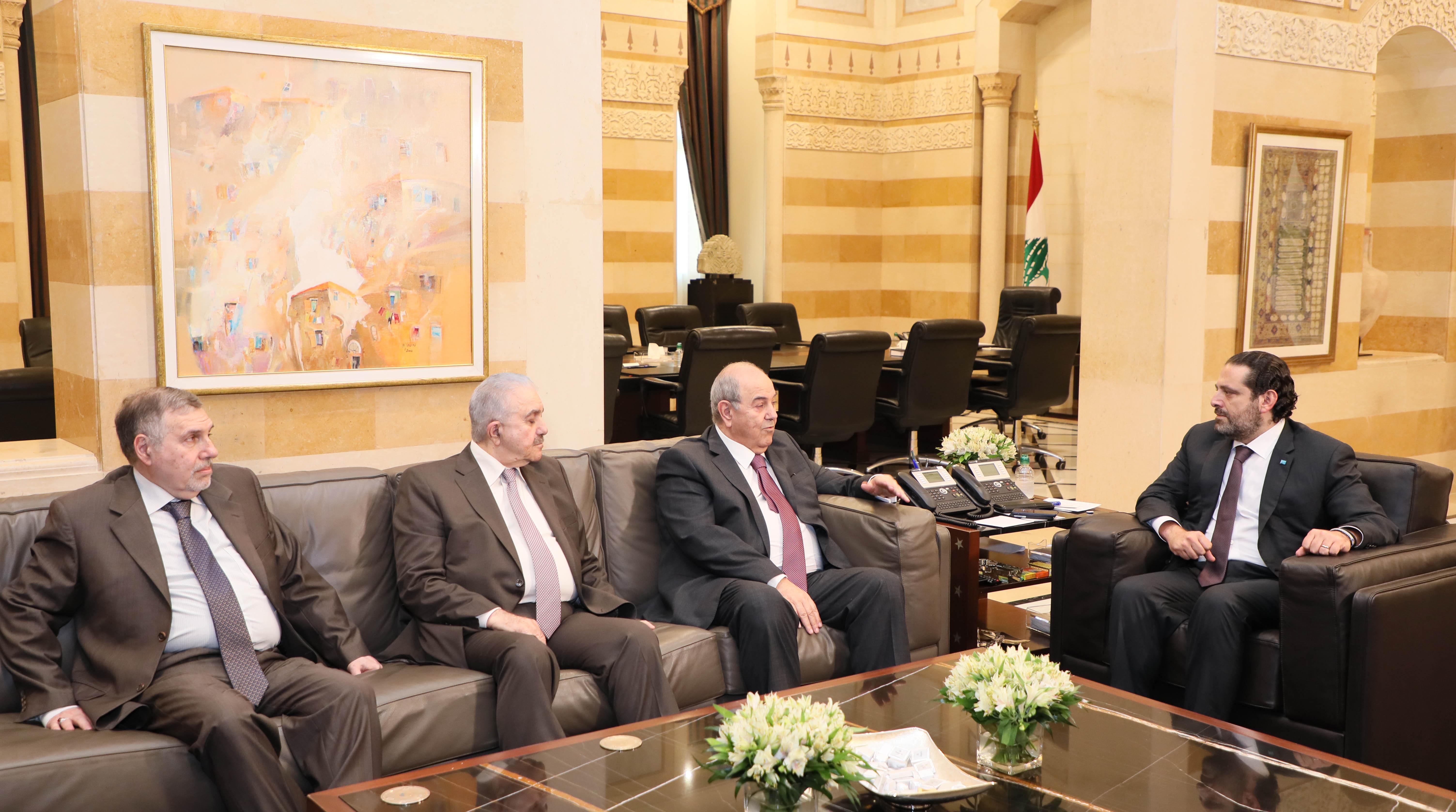 Pr Minister Saad Hariri meets Mr Iyad Alaoui 1