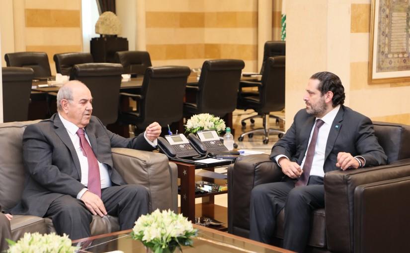 Pr Minister Saad Hariri meets Mr Iyad Alaoui