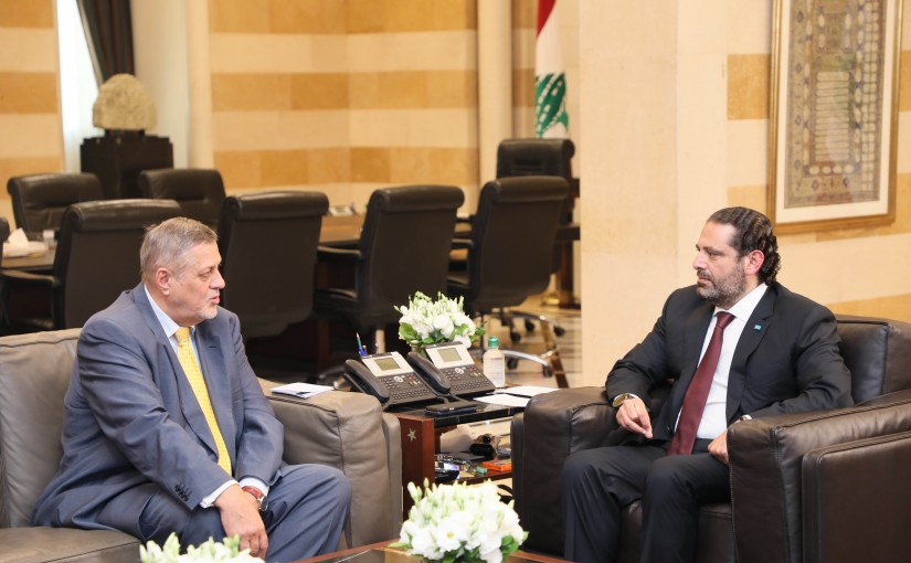 Pr Minister Saad Hariri meets Mr Jan Kubis with a Delegation