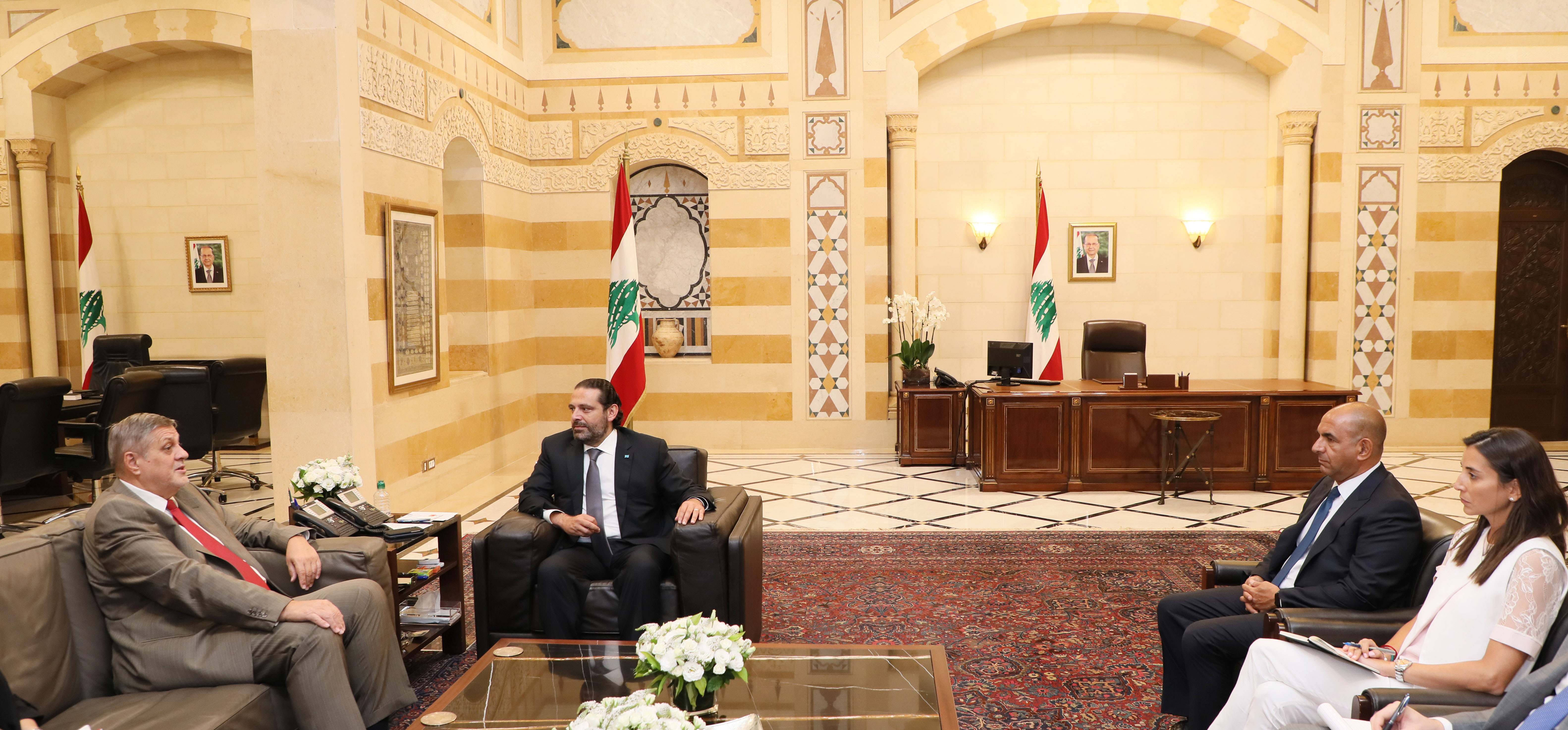 Pr Minister Saad Hariri meets Mr Yann Kobish 1