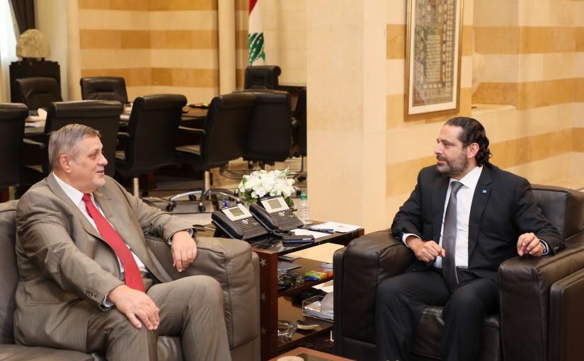 Pr Minister Saad Hariri meets Mr Yann Kobish