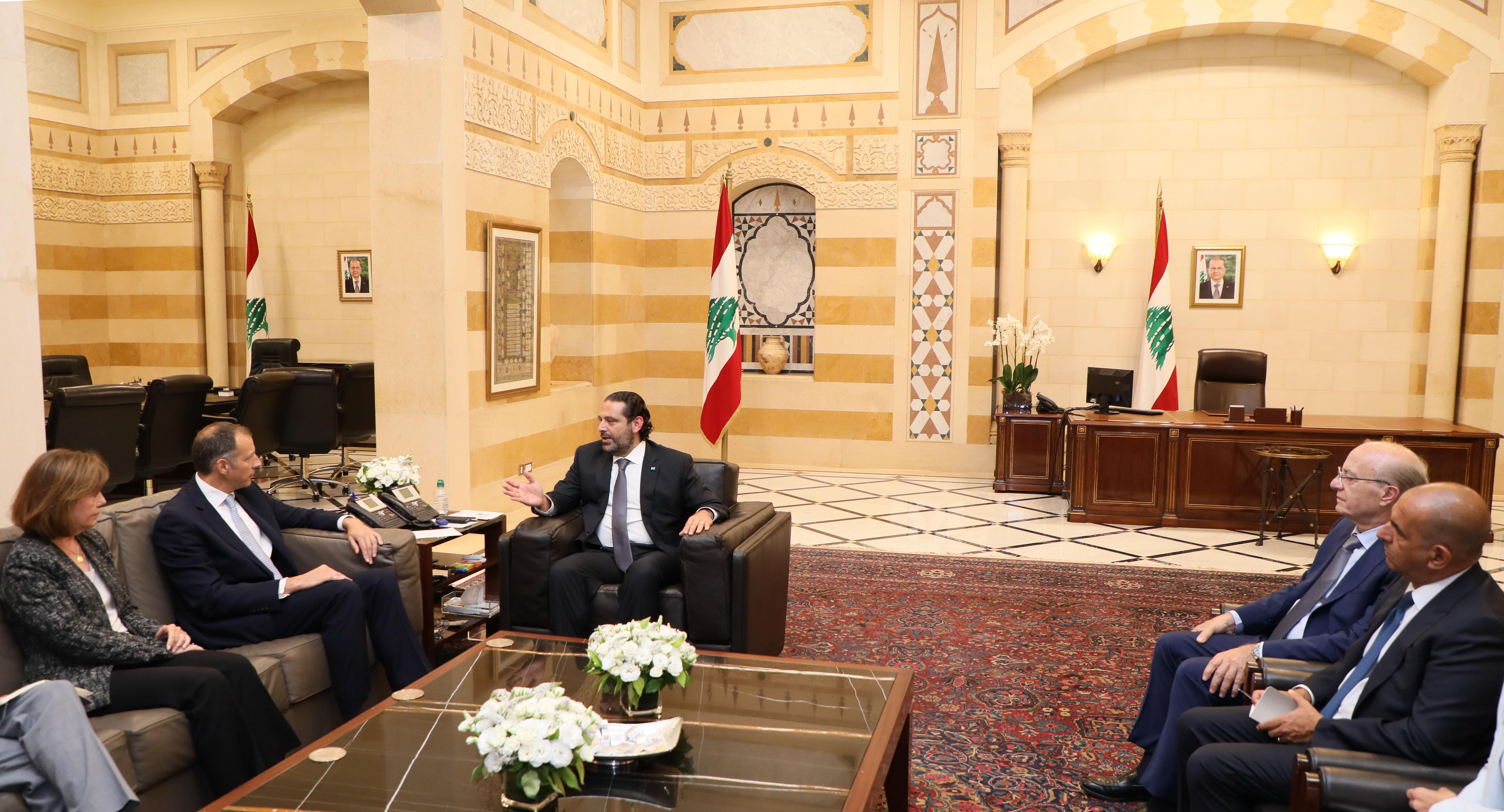Pr Minister Saad Hariri meets US Delegation 1
