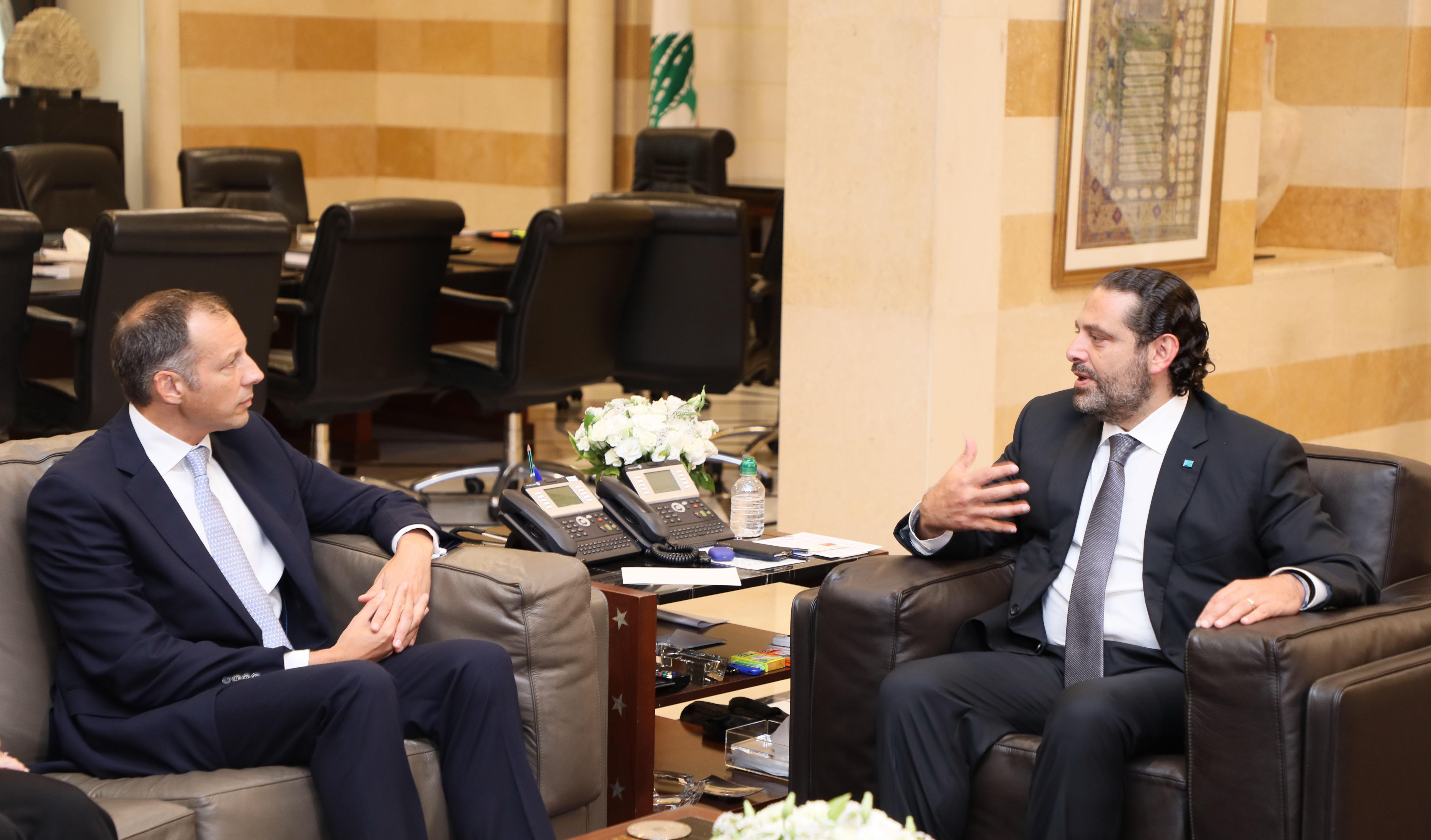 Pr Minister Saad Hariri meets US Delegation