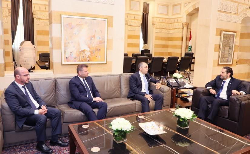 Pr Minister Saad Hariri meets a Delegation from Anghani