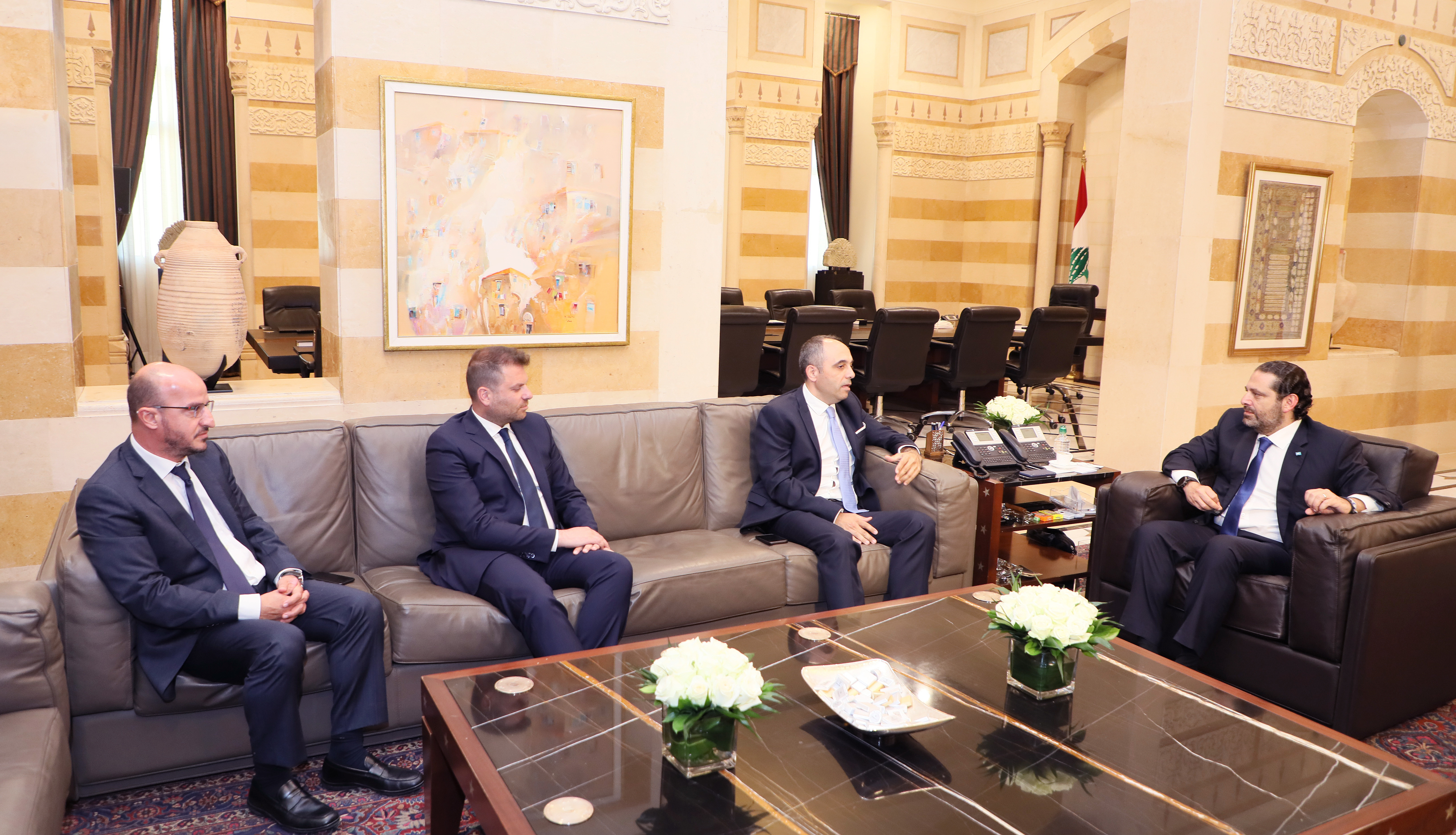 Pr Minister Saad Hariri meets a Delegation from Anghani