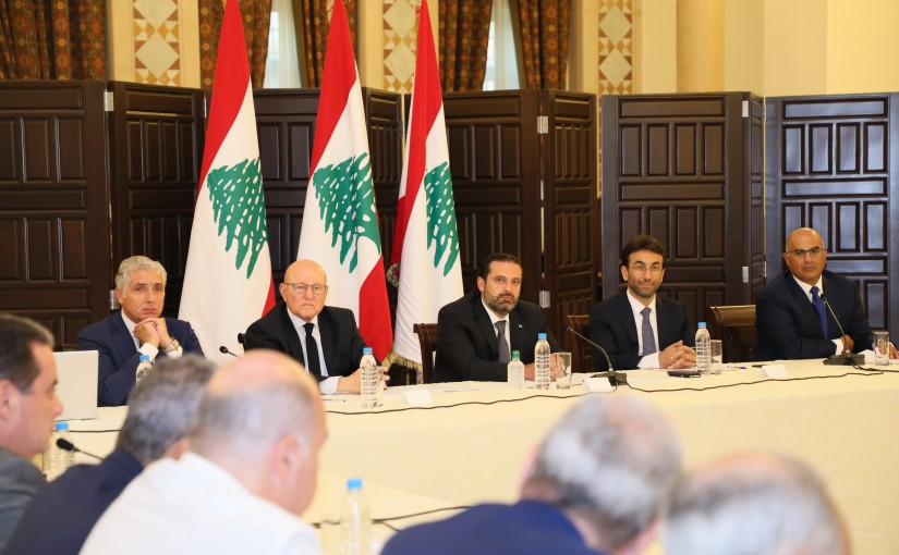 Pr Minister Saad Hariri meets a Delegation from Beirut Municipalities