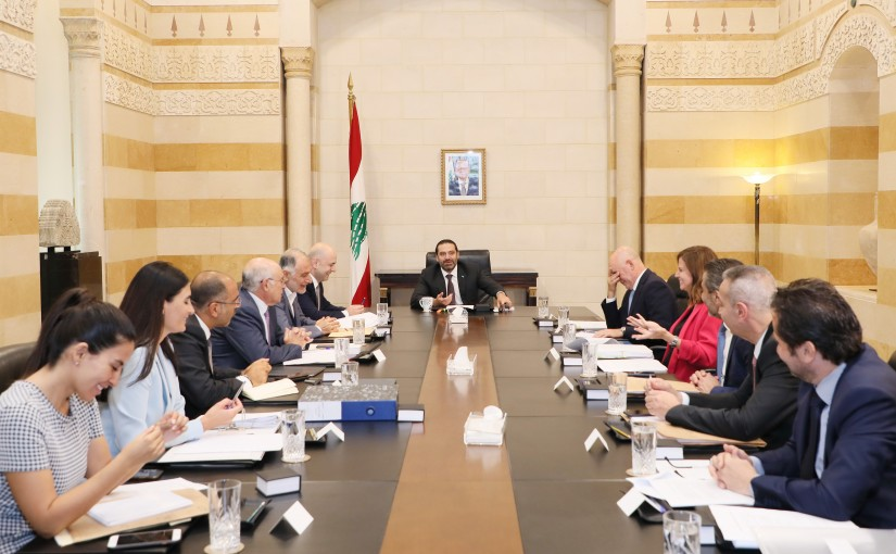 Pr Minister Saad Hariri meets a Delegation from Electricity Committee