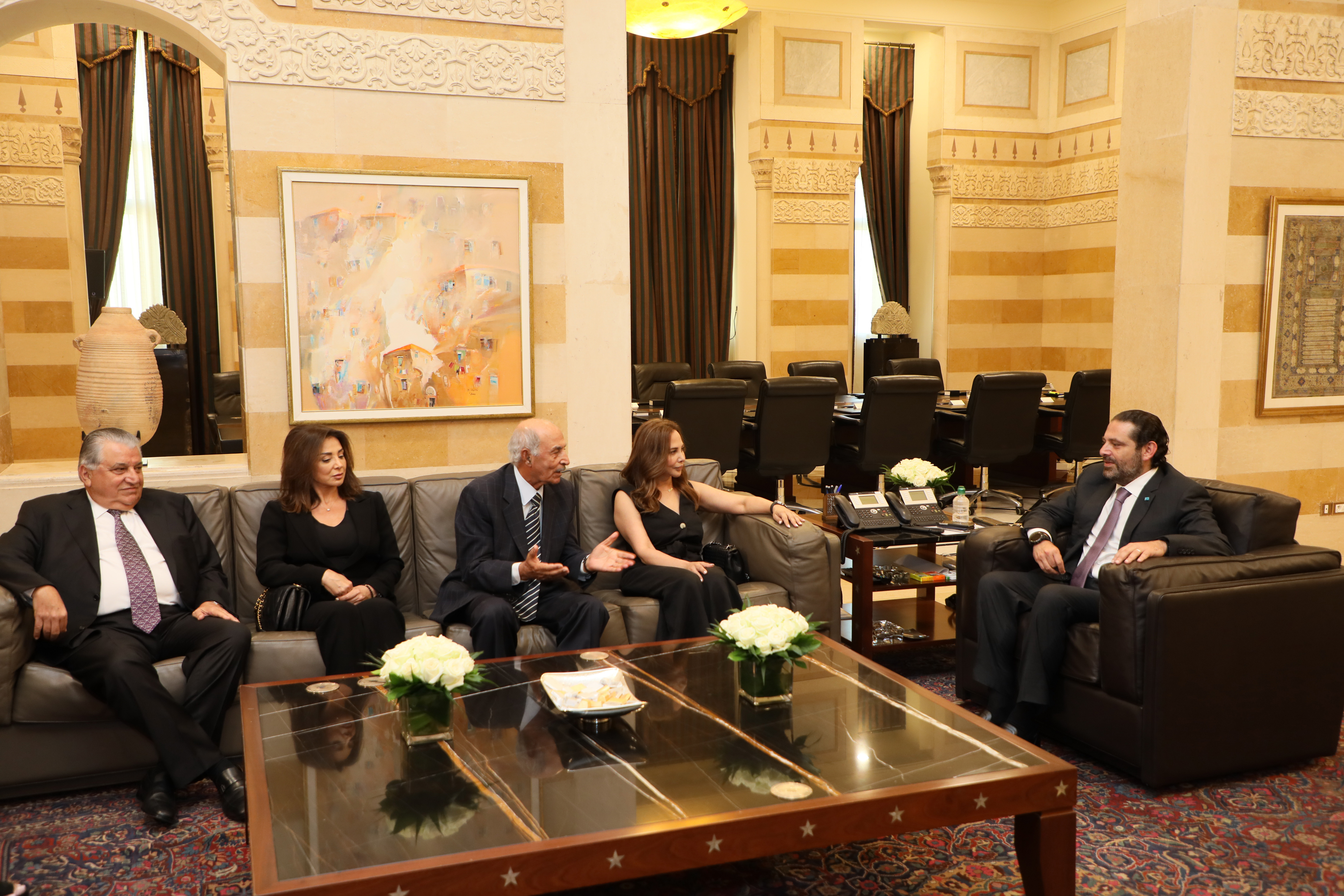 Pr Minister Saad Hariri meets a Delegation from Khatib Family