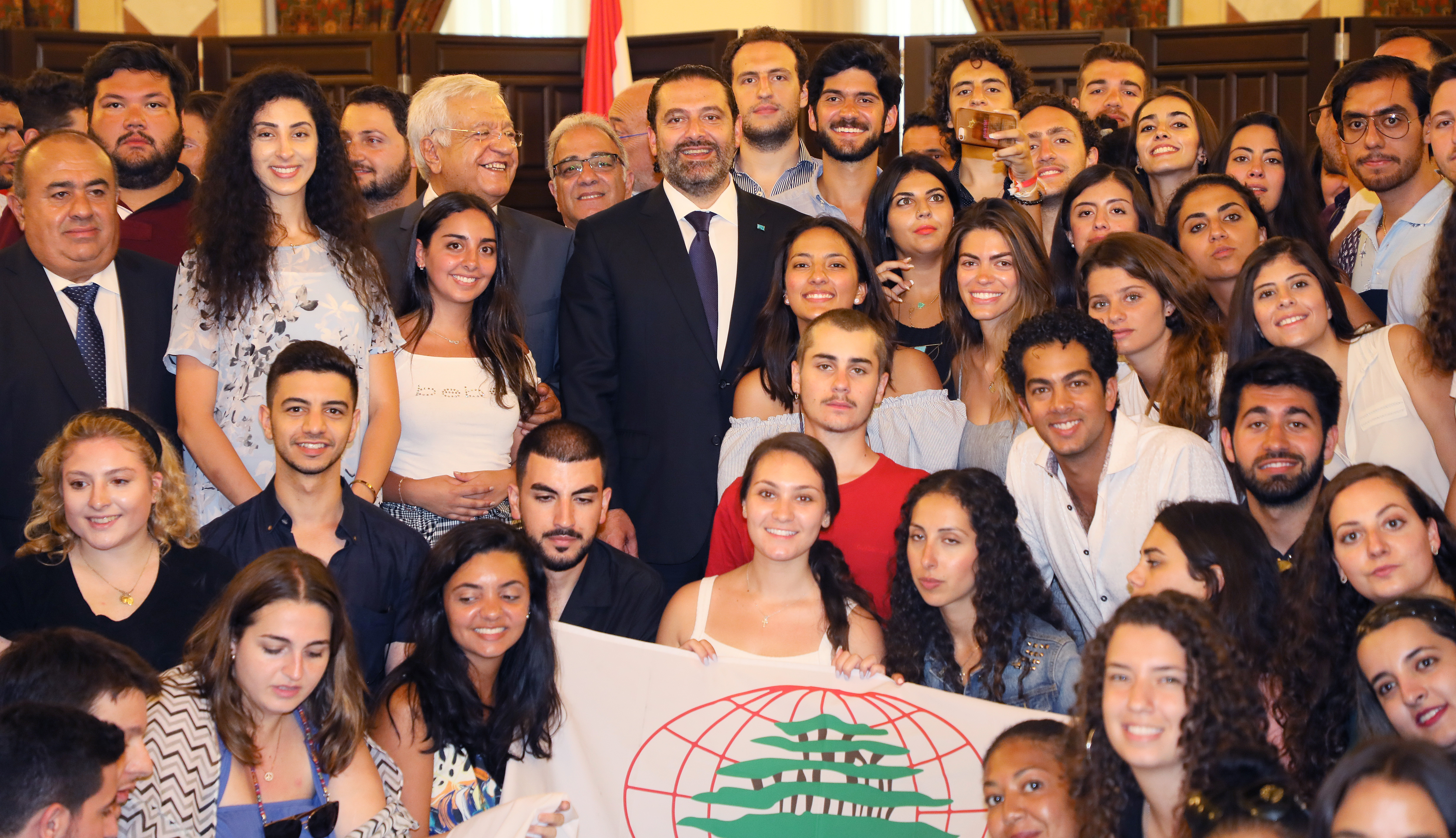 Pr Minister Saad Hariri meets a Delegation from World Lebanese Cultural Union 1