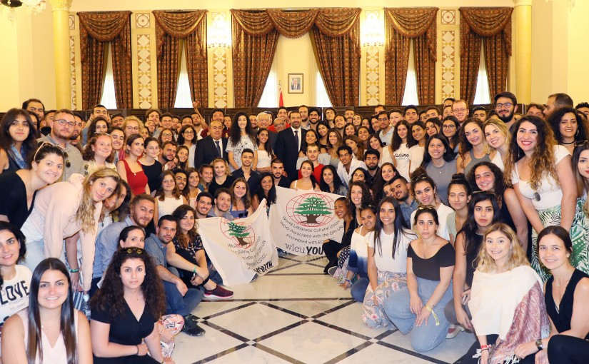 Pr Minister Saad Hariri meets a Delegation from World Lebanese Cultural Union