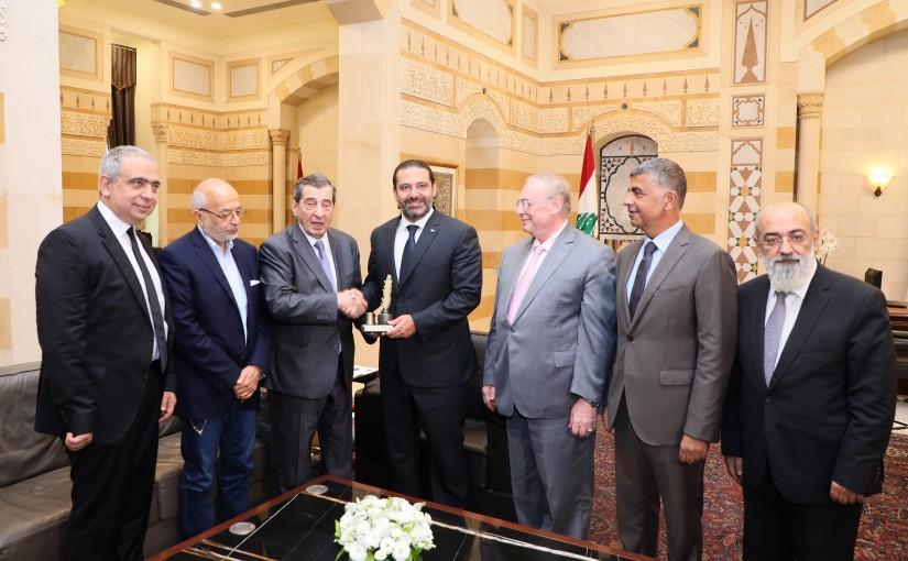 Pr Minister Saad Hariri meets a Delegation of El Boustani Price