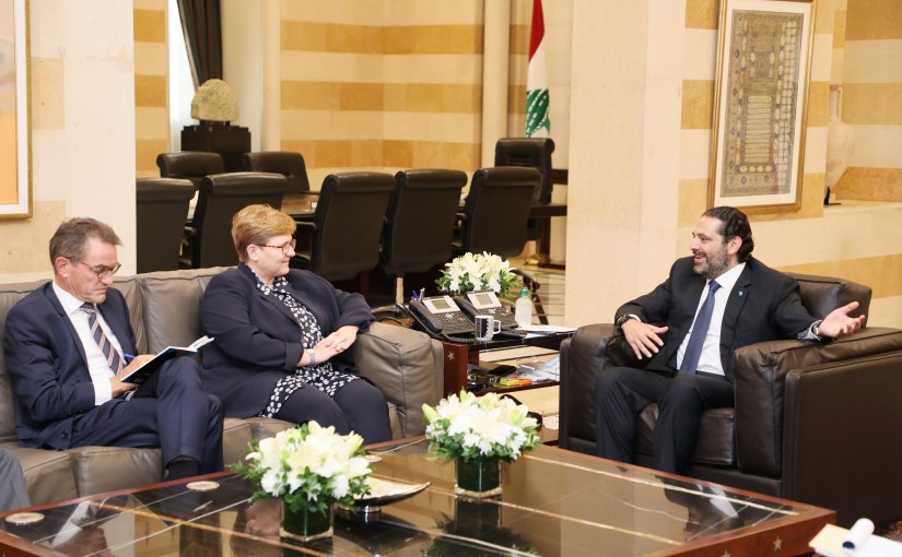Pr Minister Saad Hariri meets a German Delegation
