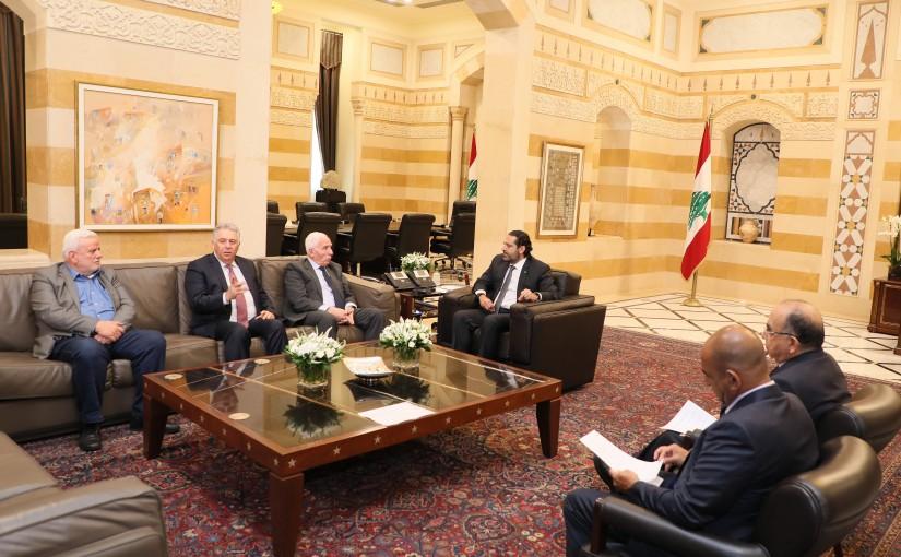 Pr Minister Saad Hariri meets a Palestinian Delegation