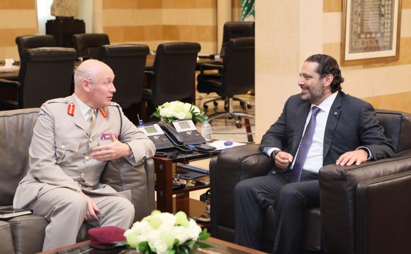 Pr Minister Saad Hariri meets a UK Delegation