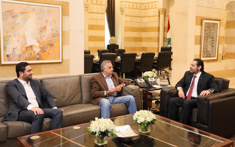 Pr Minister Saad Harri meets Former Minister Talal Erslan & Minister Saleh Gharib 1