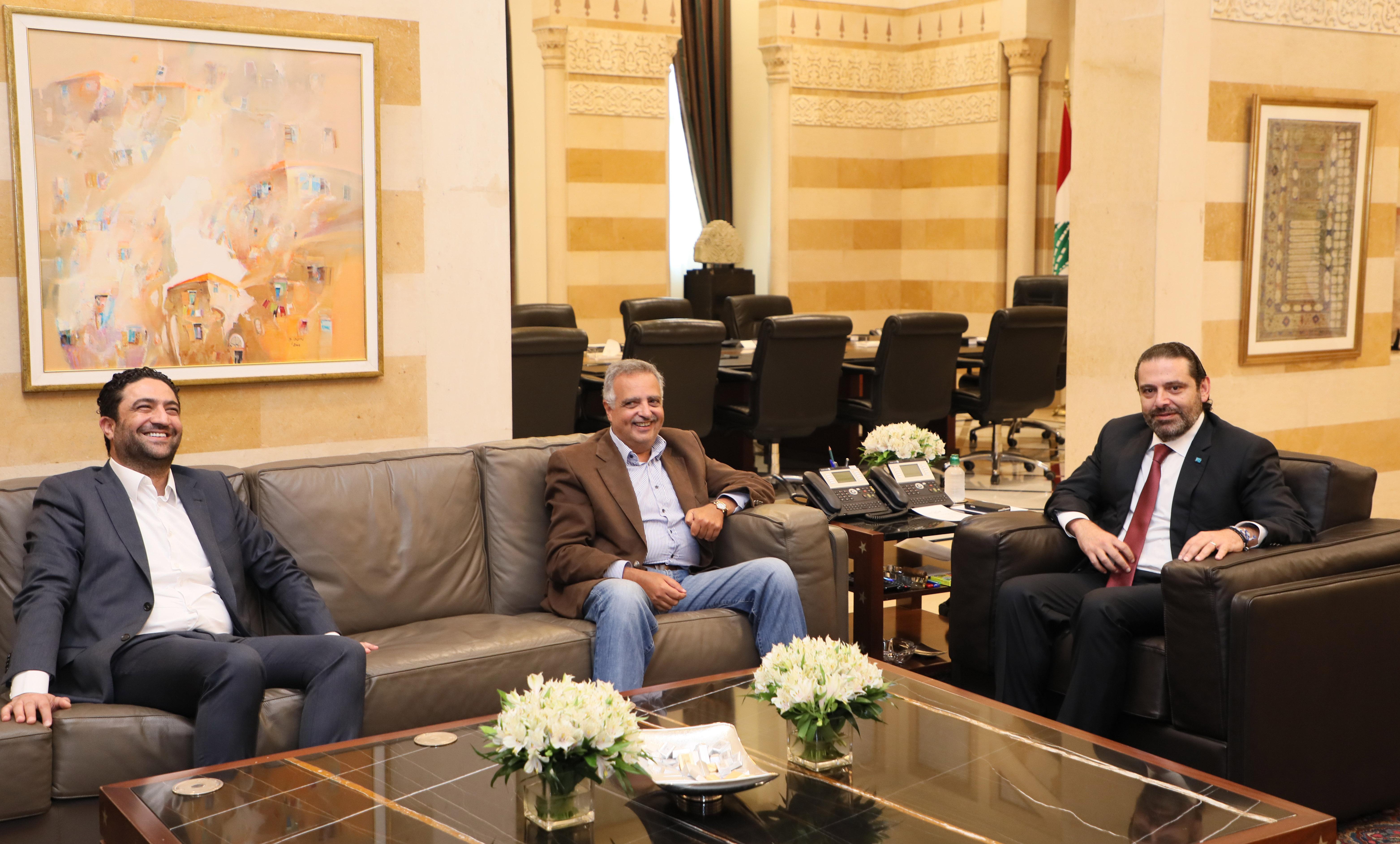 Pr Minister Saad Harri meets Former Minister Talal Erslan & Minister Saleh Gharib