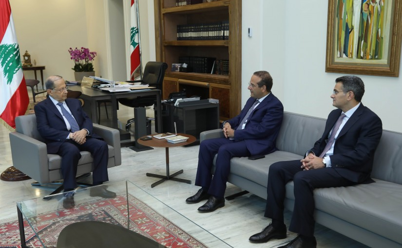 President Michel Aoun Meets Former Minister Raed Khoury & Mr Fadi Asli