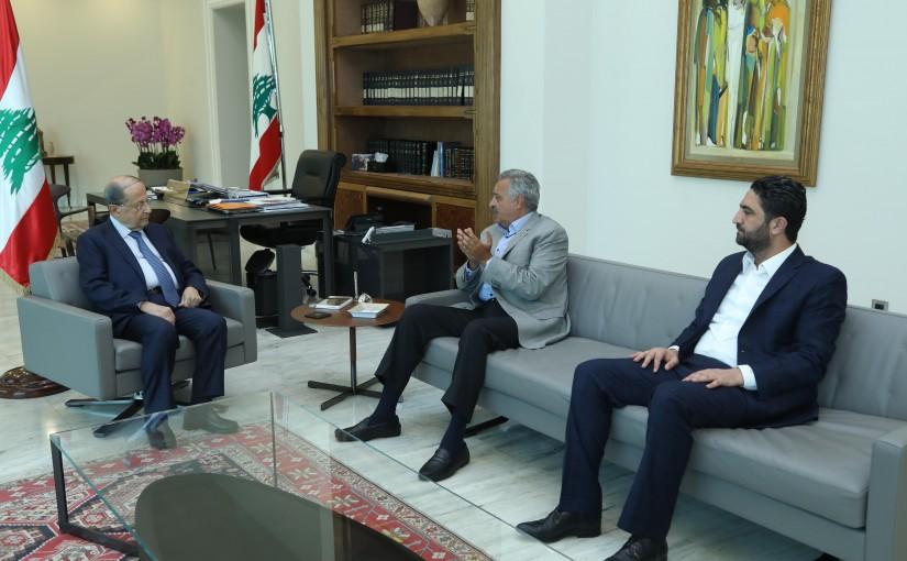 President Michel Aoun Meets MP Talal Erslan & Minister Saleh El Gharib