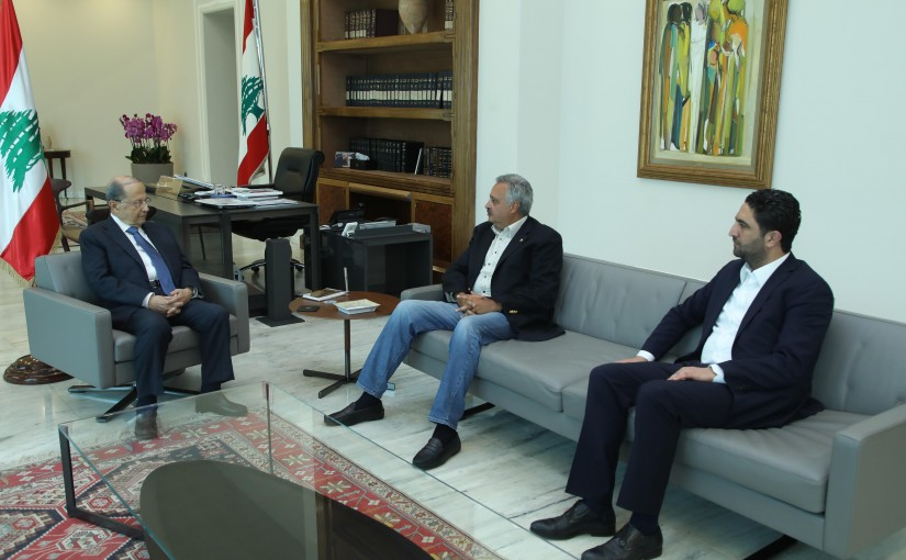 President Michel Aoun Meets MP Talal Eslan & Minister Saleh El Gharib
