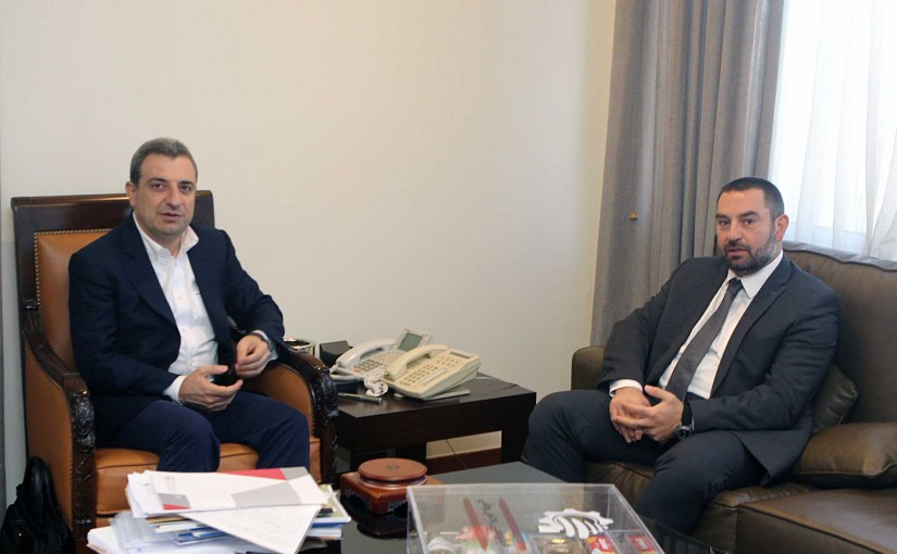 Minister Wael Abou Faour meets MP Azar