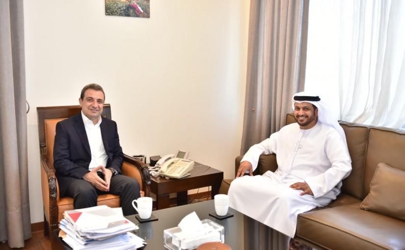 Minister Wael abou Faour meets Emirates Ambassador