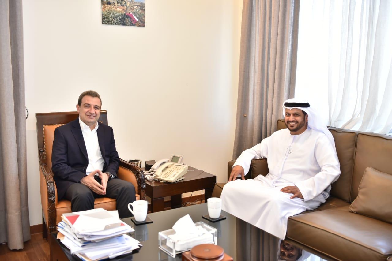 صورة الوزير ابو فاعور مع سفير الامارات
