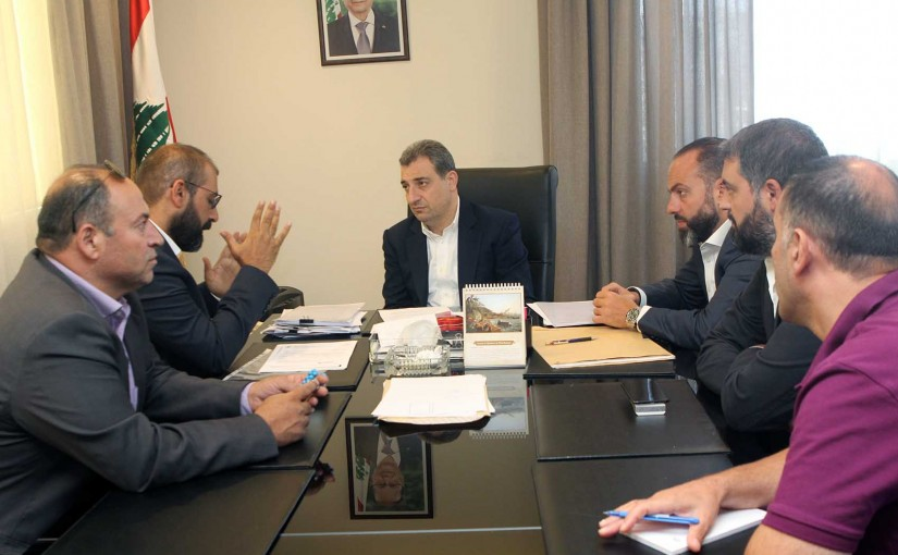 Minister Wael Abou Faour meets a Delegation from Lebanese Farmers