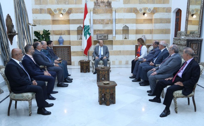 President Michel Aoun Meets a Delegation of Police Officers & Government Directors