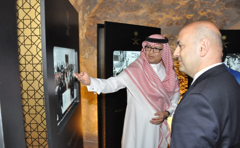 Minister Ghassan Hassbani visits the Saudi Fair