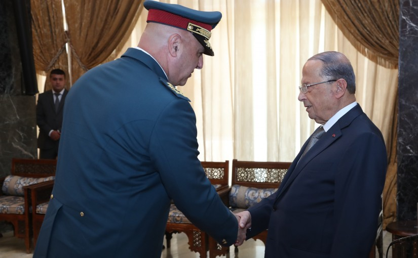 President Michel Aoun Meets a Delegation From Army Commanders