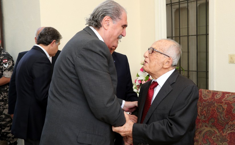Minister Selim Jreysati Honors Former MP Pierre Daccache