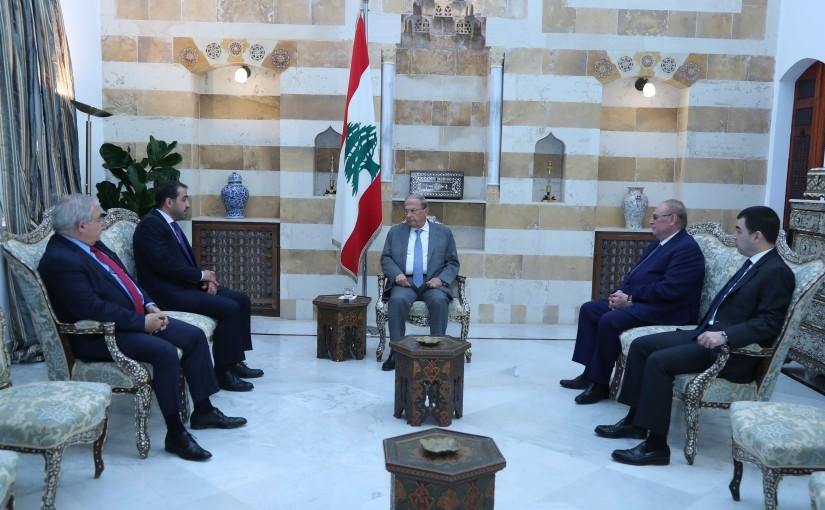 President Michel Aoun Meets MPs Mario Aoun,Ghassan Atallah,Cezar Abi Khalil,Farid Bustani