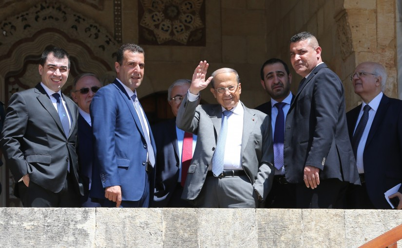 Arrival of President Michel Aoun at Beit Eddine Summer Palace
