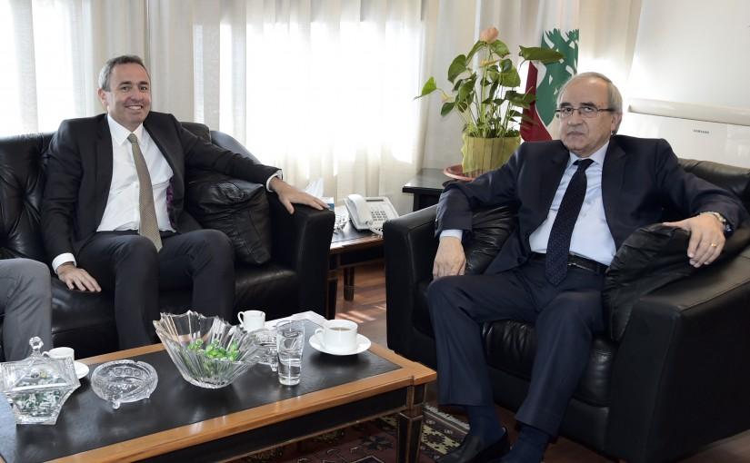 Minister Albert Serhan Meets British Ambassador