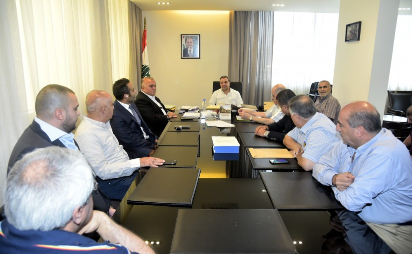 Minister Wael Abou Faour meets a Delegation from Lebanese Syndicates