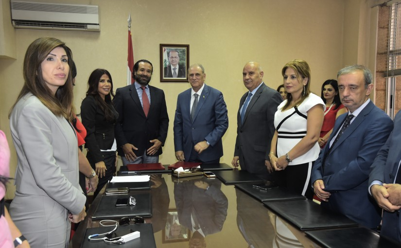 Signing Agreements at the Ministry of Information