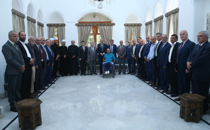 President Michel Aoun Meets a Delegation From Ain Dara