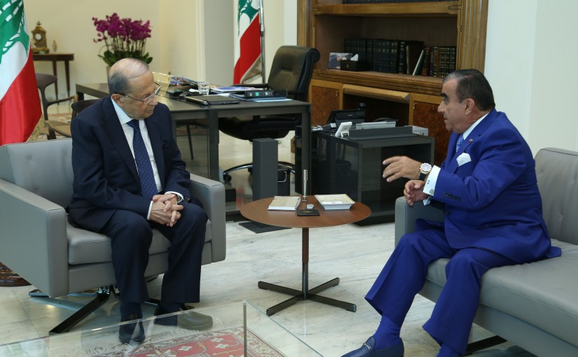 President Michel Aoun Meets Consul of Malaoui Antoine Akiki