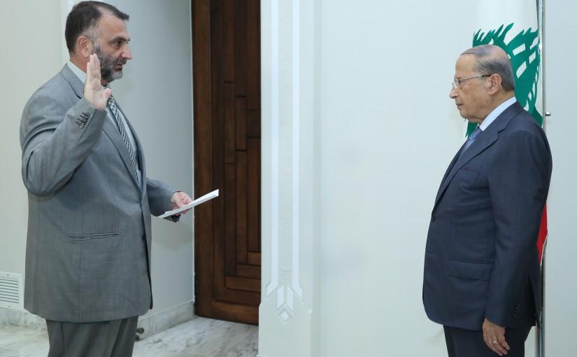 President Michel Aoun Meets Dr Bilal Mohamad Mosbah Sablouh